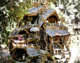 The Fairy Treehouse, beautiful architectural wonder, exhibited at the American Visionary Art Museum 1995 and 2012