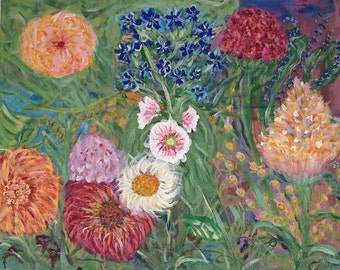 "Print of Original Painting, "" Wild Flowers"""