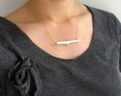 Small Twig Necklace 2 - White