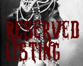 RESERVED for WickidStyle - XXL Tribal Fusion Belly Dance Costume Professional Belt - Divine Garden