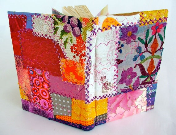 Gypsy Poets crazy patchwork fabric-bound journal