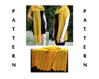 Knit Pattern - Summer Sunshine Lace Wrap - Instant Download