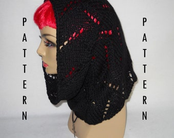 Knit Pattern - Lace Snood Cowl
