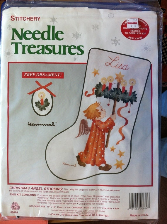 SALE Hummel Crewel embroidery Christmas stocking stitch KIT
