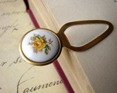 Vintage Yellow Rose Bookmark