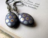 Spot On, Polka Dot Earrings, Dotty, Purple and Silver