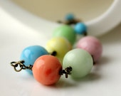Handmade Bracelet, Vintage Glass Beads, Sherbet, Ice Cream, Pastel, Summer