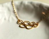 Gold Necklace, Teardrops, Delicate, Modern Beauty