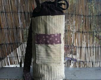 handmade zipper padded drawstring pouch custom sized