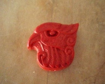 Carved Cinnabar Eagle