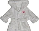 """Personalized doll bathrobe (18"""" dolls)"""