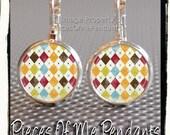 Earrings AMAZING ARGYLE design... handmade by Pieces Of Me Pendants