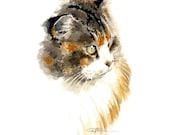 CAT PORTRAIT Art Print Signed by Artist DJ Rogers