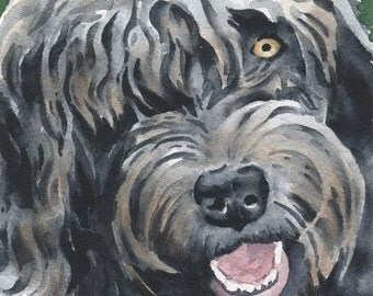 LABRADOODLE Art Print Watercolor Signed by Artist DJ Rogers