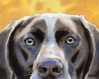 GERMAN SHORT HAIRED Pointer Art Print Signed by Artist D J Rogers