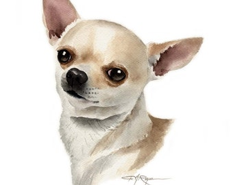 CHIHUAHUA Dog Art Print Signed by Artist DJ Rogers