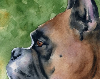 BOXER Art Print Signed by Artist DJ Rogers