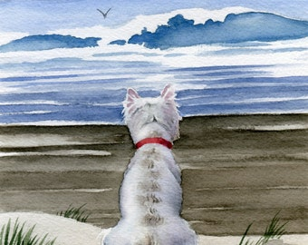 WEST HIGHLAND TERRIER Art Print Signed by Artist D J Rogers