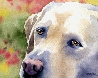LABRADOR RETRIEVER Dog Art Print Signed by Artist DJ Rogers