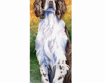 SPRINGER SPANIEL Dog Watercolor Art Print Signed by DJ Rogers