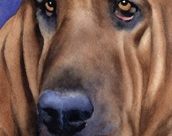 BLOODHOUND Original Watercolor Painting by Artist DJ Rogers