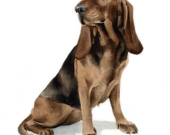 BRUNO JURA HOUND Dog Art Print Signed by Artist D J Rogers