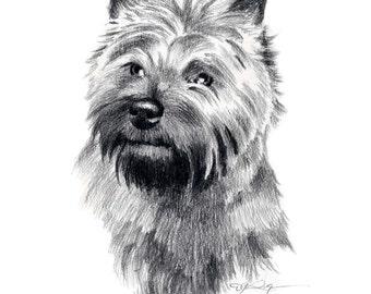 CAIRN TERRIER Dog Art Print Signed by Artist DJ Rogers