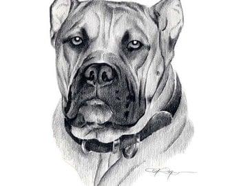 ELANO Dog Art Print Signed by Artist DJ Rogers