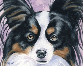 PAPILLON Art Print Watercolor Signed by Artist DJ Rogers