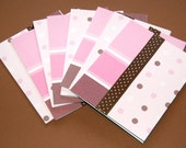 pink\/brown Girly note cards