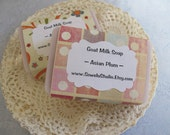 Goat Milk Soap, Asian Plum, one bar, handmade soap, bath bar, soap, shabby chic