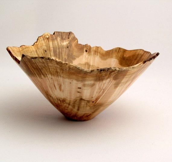 Natural Edge Birdseye Maple Burl Bowl