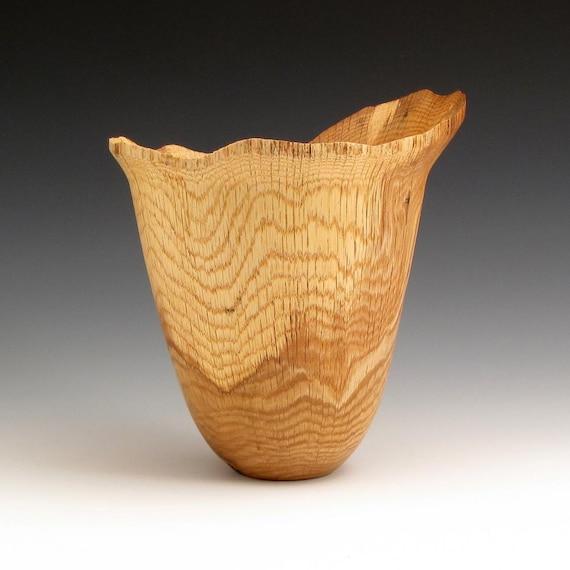 White Oak Wood Turned Bowl