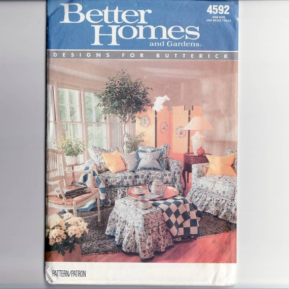 Uncut Slip Covers For Sofa Chair And Ottoman Sewing Pattern