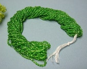 One hank of Czech Silver Lined Light Green seed beads - 0401 size 11
