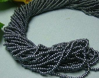 One hank of Czech Luster Gunmetal seed beads - 0902 size 11