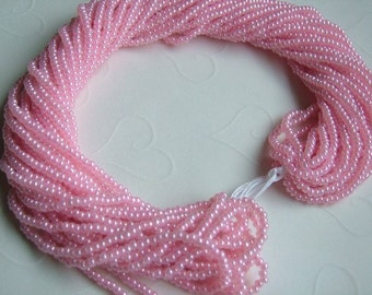 One hank of Czech Pearl Pink seed beads - 1306 size 11