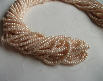 One hank of Czech Pearl Eggshell seed beads - 0807 size 11