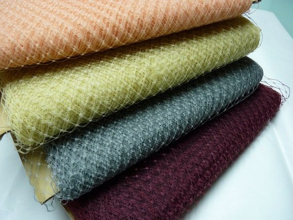 Weekly Promos -- Any Colors of 5 Yards 9 inches wide Russian/French Veiling (Mix and Match Color)