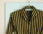 1940s gold striped satin dressing gown - S/M