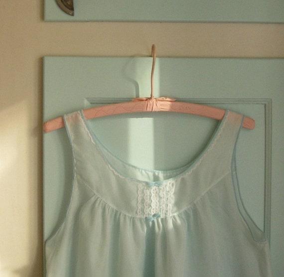 1960s robin's egg nightgown - M/L
