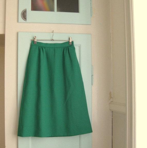 Green A Line Skirt 55