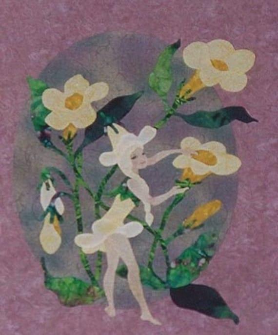 Flower Fairy Applique Quilt Block Pattern Miss Jasmine By