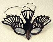 Bird Mask in Black Leather