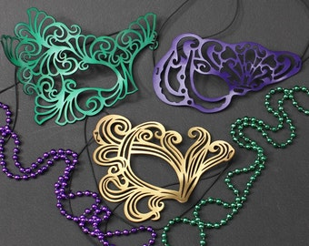 Mardi Gras Masks Special -- Roxy, Vixen and Bemused Leather