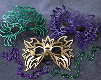 Mardi Gras Masks Special --Totem, Electro, Decaflor Leather