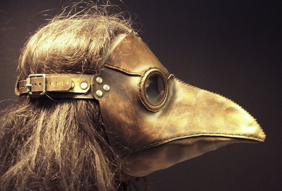 Plague Doctor's mask in leather