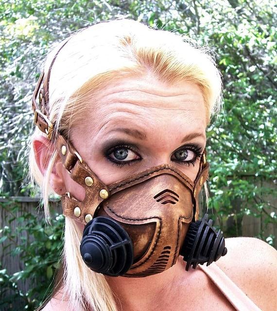 Ronin leather respirator gas mask kit