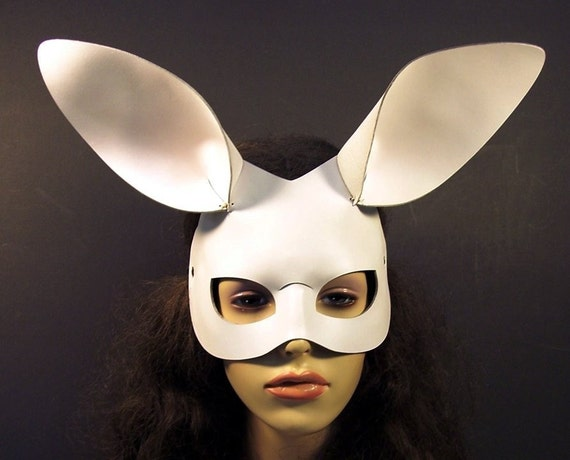 White Bunny leather mask
