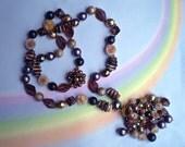 Vintage 50s Beaded Tassel Necklace Western Germany